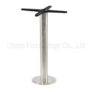 (SP-STL076) Fast Food Furniture Stainless Steel Fixed Restaurant Table Leg pictures & photos