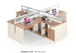 Moden Wood Desk Office Workstation for 4 People pictures & photos
