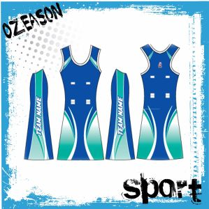 Fashion Design Cutomized Polyester Spandex Dri Fit Netball Dress (N010) pictures & photos