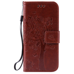 OEM Embossed Tree Wallet Leather Cell Phone Cover for iPhone 6splus pictures & photos