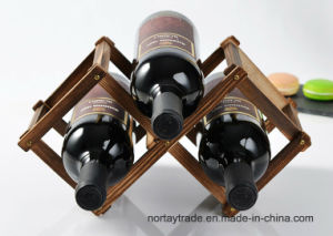 10-Bottle 8 Stains Pine Wood Folded Wine Racks pictures & photos