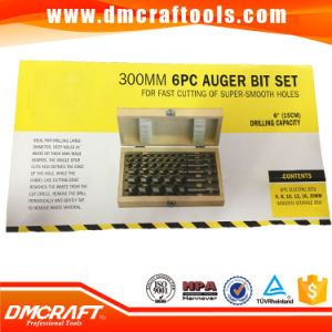 6 PC 300mm Long Auger Drill Bit Set Wood Bits pictures & photos