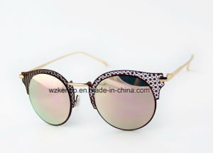 Stenciled Design Metal Frame with Colourfull Plating Km16149 Fashion Sunglasses pictures & photos