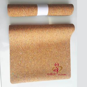 Eco Friendly Soft Natural Rubber Base Custom Cork Yoga Mat pictures & photos