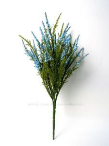 Artificial Fluffy Pine Bush with Colourful Flower X 7 for Decoration pictures & photos