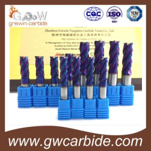 Solid HRC65 4 Flute Carbide End Mills pictures & photos