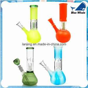 Bw136 High Quality Frosted Percolator Color Smoking Glass Pipes pictures & photos
