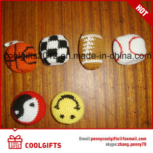 Customized Hand Made Woven Kick Toy Ball Juggling Soft Ball for Kids Gift pictures & photos