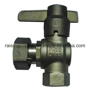Brass Angle Ball Valve with Lockable Handle pictures & photos