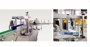 Round Bottle One Side Adhesive Sticking Machine for Shampo Detergent Bottle pictures & photos