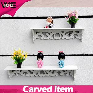 Decorative Cheap New Design White Plastic Wall Storage Shelves pictures & photos