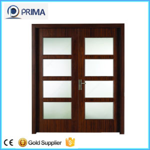 China Wooden Main Entrance Doors with Wood Frame for Apartment ...