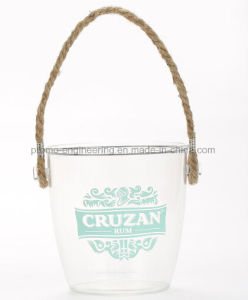 Transparent Plastic Wine Ice Bucket for Wholesale pictures & photos