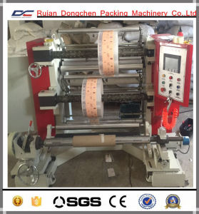 Vertical Type PLC Controlling Slitting Rewinding Machine for PE Film Roll (DC-FQV) pictures & photos
