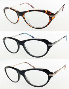 High Quality Acetate Optical Frame with Metal Temples and 180 ° Hinge pictures & photos