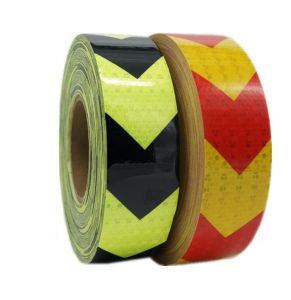 PVC Arrow Safety Reflective Warning Tape, Yellow/Red pictures & photos