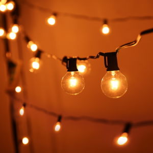 25FT G40 Bulb Globe String Lights with Clear Bulbs pictures & photos
