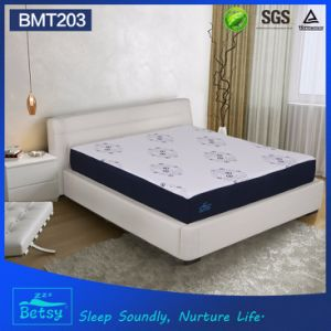 OEM Compressed Foam Mattress 25cm High with Gel Memory Foam and Knitted Fabric Zipper Cover pictures & photos