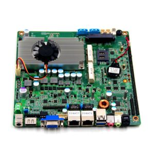 Fanless Onboard Baytrail Celeron J1900 /J1800 Dual LAN Motherboard for Touch Monitor pictures & photos