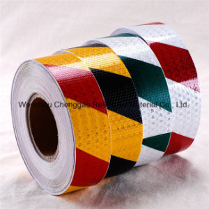 Factory Hazard Warning Yellow and Black Stripe Reflective Tape (C3500-S) pictures & photos