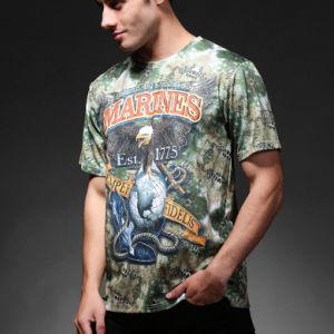 Outdoor Sports Army Tactical Python Camo Men Cotton T-Shirt pictures & photos