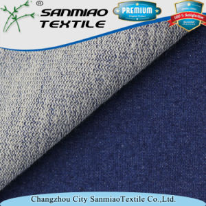 High Quality Light Blue 270GSM French Terry Knitting Knitted Denim Fabric for Jeans pictures & photos