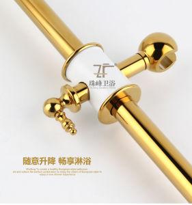 New Design Ceramic Double Handle Zf-602-1 Antique Brass Rain Shower Set pictures & photos