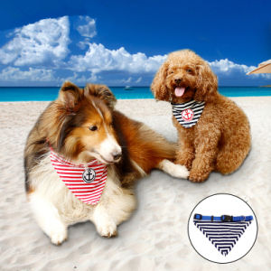 Stripes Sailor Dog Collar with Leash Buckle Pet Bandanas pictures & photos