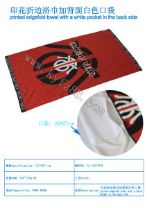 Positioning Printing Microfiber Beach Towel with Pocket