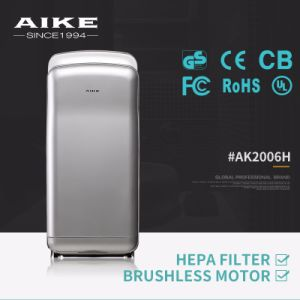 Hotel Bathroom Electric Sensor Automatic High Speed Double Jet Hand Dryer AK2006H pictures & photos