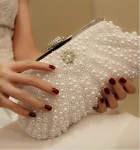Elegant Pearl Crystal Wedding Evening Party Clutch Handbag (Dream-100074) pictures & photos