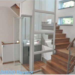 China low cost villa lift house small glass home elevator for Small elevator for home price