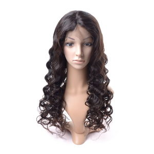 Brazilian Silk Front Lace Wig Middle Part pictures & photos