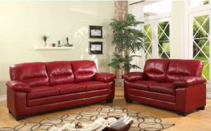 2 & 3 Seater Red PVC Sofa