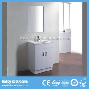 Australia Style Popular Vinyl Wrap Modern Bathroom Vanity (BC136V) pictures & photos