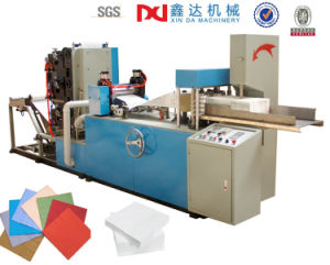 China Manufacturer Automatic Embossing Napkin Tissue Folding Paper Machine pictures & photos