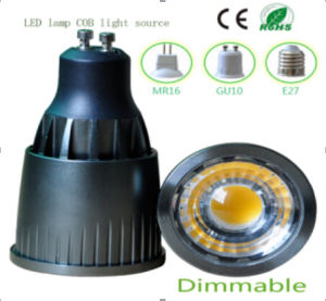5W Dimmable GU10 COB LED Lighting pictures & photos