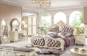 Antique Style Classical Bedroom Furniture Set (HF-MG004) pictures & photos