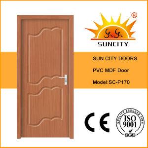Modern House Interior Bathroom MDF PVC Door for Sale (SC-P170) pictures & photos