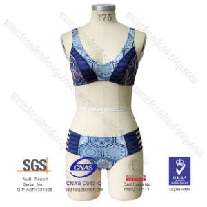 Women′s Bandage Neoprene Bikini Set Swimsuit Swimwear pictures & photos