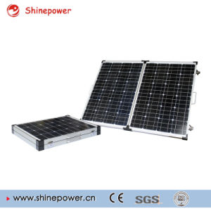 120W Portable Folding Solar Power System with 10A Pmw MPPT Controller pictures & photos