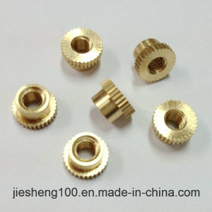 Custom Embedded Knurled Copper Nut