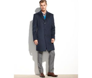 Wool-Blended Slim Fit Men′s Navy Coat for Winter pictures & photos
