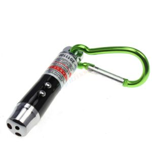 Metal White Light Torch with Bright Green Carabiner for Decoration pictures & photos