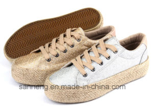 2016 Women Fashion Casual Shoes with Hemp Rope Foxing (SNC-280033) pictures & photos