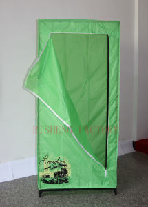 New Design Fabric Wardrobe as Garments Rack (QQ008) pictures & photos