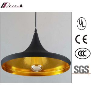 Simple Antique Matt Black Single-Head Aluminum Pendant Lamp pictures & photos
