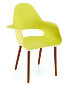 Indoor Yellow Plastic Arm Chair pictures & photos