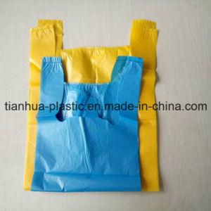 LDPE/HDPE T-Shirt Plastic Bag Garbage Bag on Block