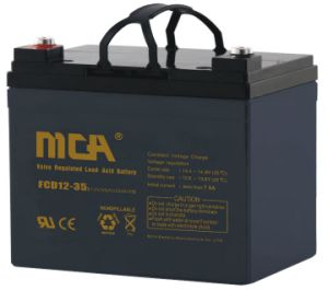 12V 35ah Rechargeable Deep Cycle Battery for Battery Pank pictures & photos